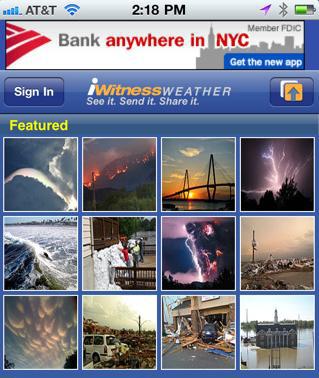 Monitorea las trayectorias de los huracanes desde tu iPhone