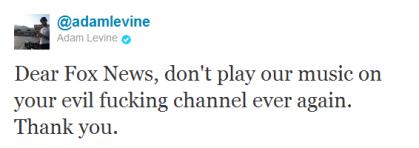 Adam Levine tweet