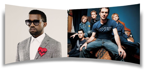 Kanye West and Maroon 5 at Victoria's Secret