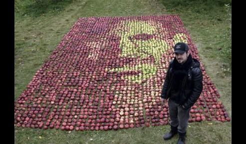 Retrato steve jobs manzanas 2