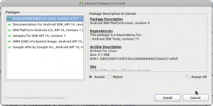 Android SDK Manager - Instalar paquetes