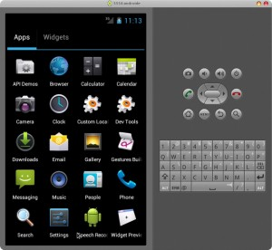 Android SDK Manager - Emulador corriendo - Android 4