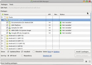 Android SDK and AVDs Manager