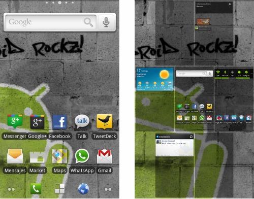 captura de pantalla ADW Launcher