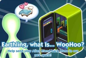 Mision del Alien en The sims social