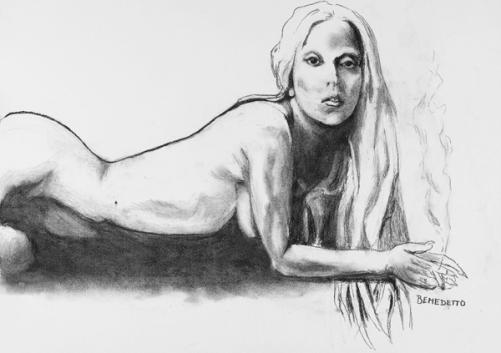 Boceto de Lady Gaga a subasta