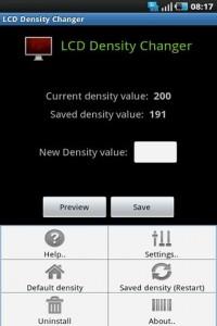 LCD Density Changer