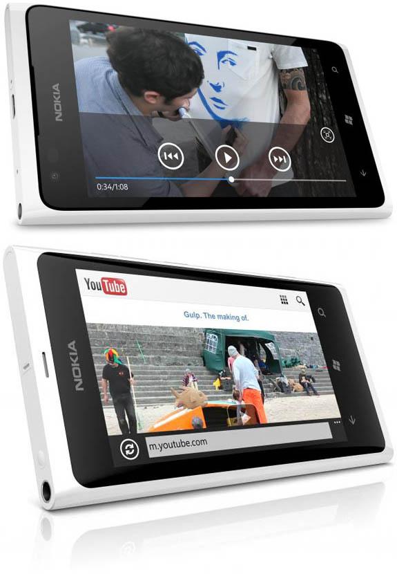 Lumia 900 Blanco Vs Lumia 800 blanco