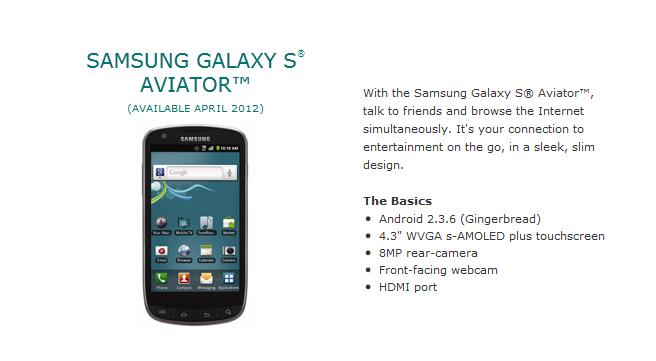 Samsung Galaxy Aviator  LTE