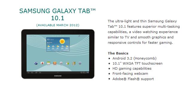 Samsung Galaxy Tab 10.1 LTE