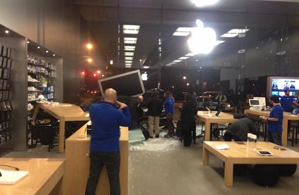 Accidente Apple Store