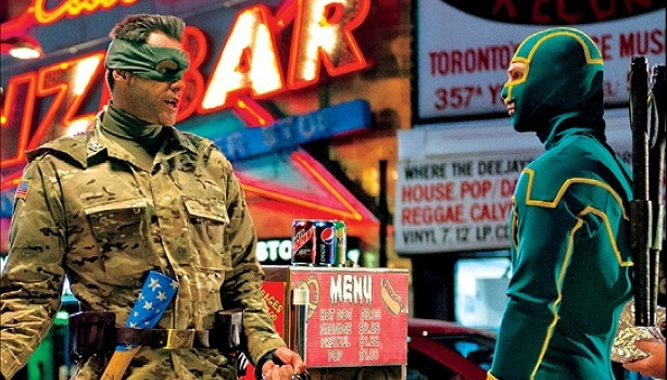 Kick-Ass 2 - Jim Carrey y Aaron Johnson