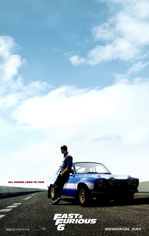 Paul Walker-Fast and Furious 6-poster