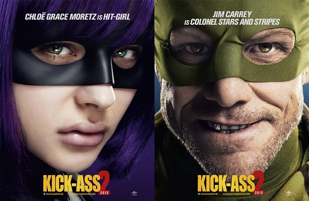 Hit Girl y Colonel Stars en Kick-Ass 2