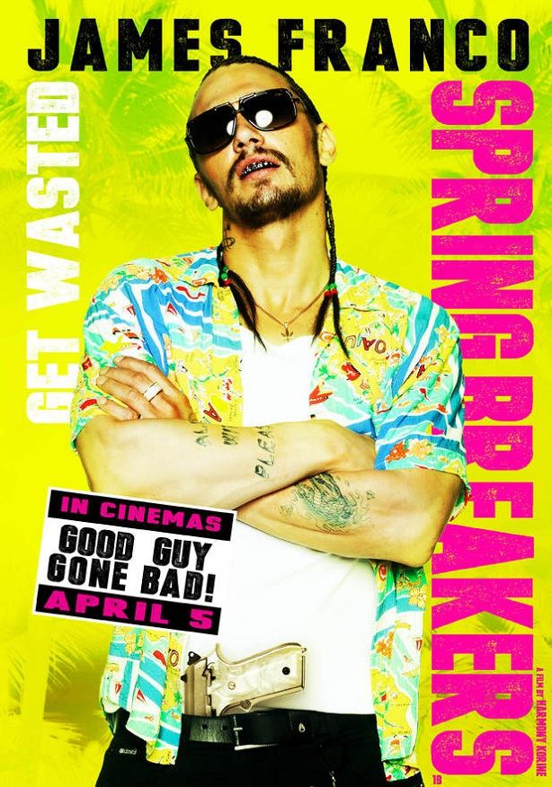 James Franco-Spring Breakers-new poster
