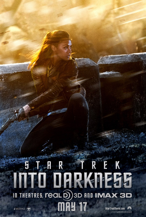 Zoe Saldana-Star Trek Into Darkness-poster