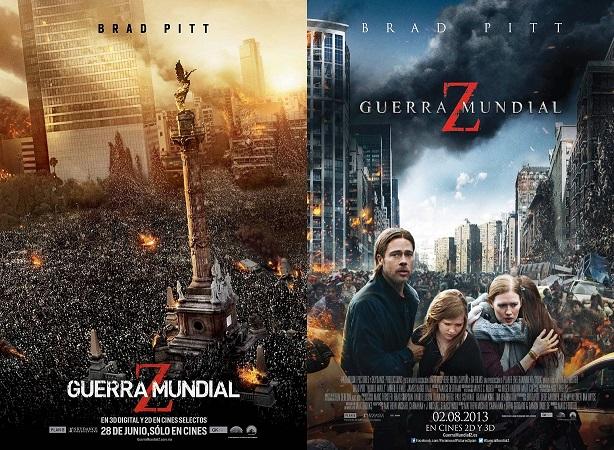 Guerra Mundial Z-carteles internacionales