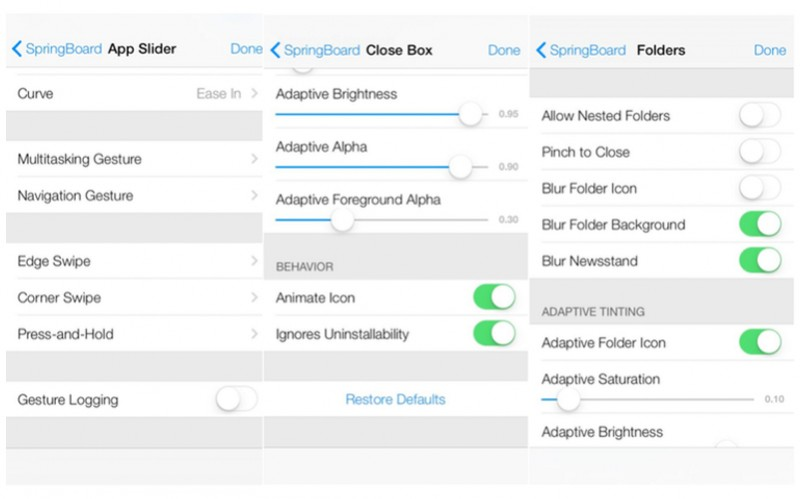 menu oculto iOS 7