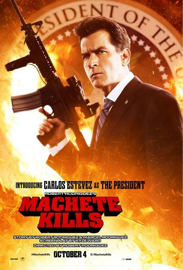 Charlie Sheen-Machete Kills Poster