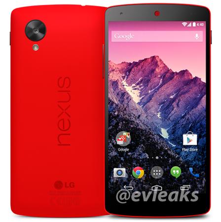 Nexus 5 rojo