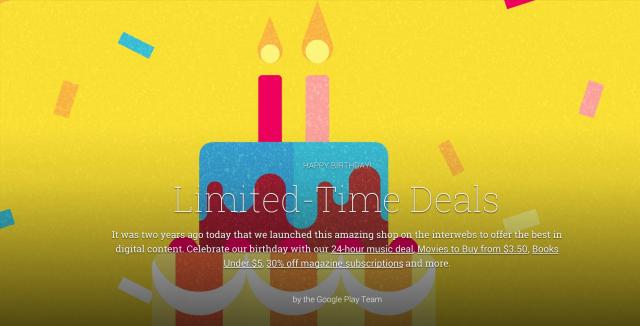 Google Play cumpleaños