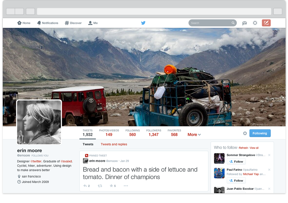 nuevo perfil Twitter