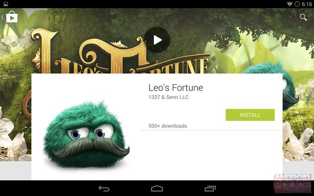 Google Material Design Play Store